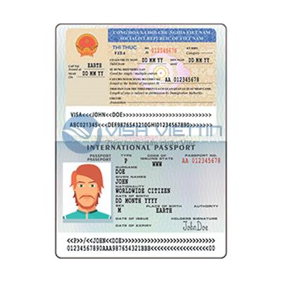 Visa Việt Nam dạng dán